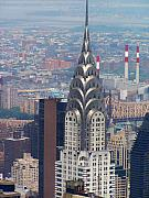 Chrysler Building Digital Art Prints - Chrysler Building Print by Vijay Sharon Govender