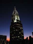 Nyc Rooftop Prints - Chrysler Glow Print by Matthew Breslow