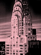 Chrysler Building Mixed Media Acrylic Prints - Chrysler Sepia Acrylic Print by Dan Haraga