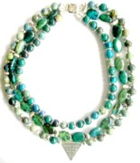 Stars Jewelry - Chrysocolla with Silver by Pat Stevens