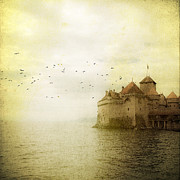 Flock Of Bird Art - Château De Chillon by Tom