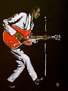 Guitar Player Painting Originals - Chuck Berry by Pete Maier