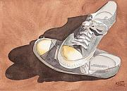 Foot Paintings - Chucks by Ken Powers