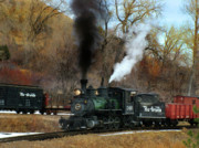 Colorado Railroad Museum Prints - Chug-a-Chug Print by Ken Smith