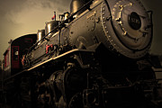 Railroads Photo Metal Prints - Chugging Across America in The Age of Steam . Golden Cut . 7D12980 Metal Print by Wingsdomain Art and Photography