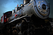 Old Locomotives Acrylic Prints - Chugging Across America in The Age of Steam . 7D12980 Acrylic Print by Wingsdomain Art and Photography