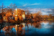 """autumn Reflection"" Photos - Church - Clinton NJ - Clinton United Methodist Church by Mike Savad"