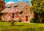 Sakura Photo Prints - Church - Heaven Created Print by Mike Savad