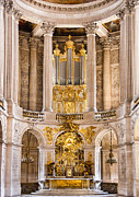 Palace Of Versailles Prints - Church Altar inside Palace of Versailles Print by Jon Berghoff