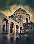 Dark Skies Framed Prints - Church Arches And Dome Framed Print by Jill Battaglia