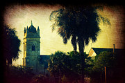 Trees And Palm Trees - Church at Fort Moultrie near Charleston SC by Susanne Van Hulst