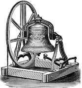 19th Century America Prints - Church Bell, 19th Century Print by Granger