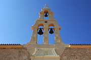 Holiday Photo Prints - Church Bells Crete Print by Bob Christopher