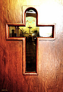Window And Doors Framed Prints - Church Door Framed Print by Cheryl Young