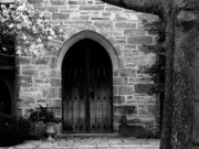 Upperville Prints - Church Door Print by Michael L Kimble