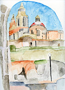 Illustration Painting Originals - Church by Eva Ason