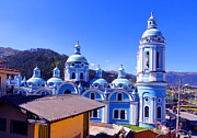 Domes Prints - Church In Banos Ecuador Print by Al Bourassa