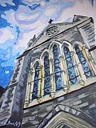 Dublin Painting Originals - Church in Dublin by Aleksandra Buha