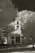 Sturbridge Posters - Church in Infrared Poster by Joann Vitali