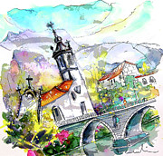 Churches Drawings - Church in Ponte de Lima in Portugal by Miki De Goodaboom