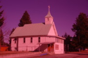 Churchs Prints - Church In Spirit Lake Idaho  Print by Jeff  Swan