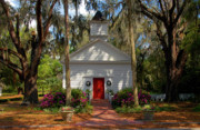 Azaleas Posters - Church in Spring Poster by David Lee Thompson