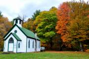 Autum Posters - Church in the Wildwood Poster by Todd Hostetter
