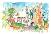 Capital Drawings - Church in Turkish Nicosia by Miki De Goodaboom
