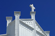 White Church Posters - Church Key West Florida Poster by Bob Christopher