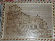 Church Pyrography - Church Of Old Goa by Vijay Sharma