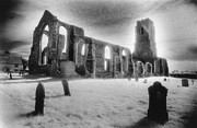 Frightening Landscape Prints - Church of St Andrew Print by Simon Marsden