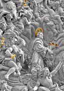 Theology Posters - Church of St James the Greater Prague - Stucco bas-relief Poster by Christine Till