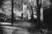Country Lane Prints - Church of St Mary Magdalene Print by Simon Marsden