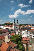 Moravia Photos - Church Of St Michael, Spilberk Castle And The Town by Maremagnum