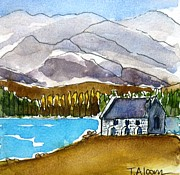 Church Paintings - Church of the Good Shepherd by Therese Alcorn
