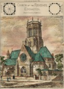 Redeemer Paintings - Church of the Redeemer. Edgbaston England. 1883 by James Cubitt