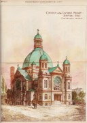 Sacred Heart Paintings - Church of the Sacred Heart. Dayton OH. 1887 by Chas Williams