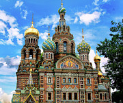 St John The Russian Photo Framed Prints - Church of the Spilled Blood Framed Print by Gary Little
