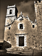 Fassade Prints - Church of the Virgen de la Ermitana - Peniscola  Print by Juergen Weiss