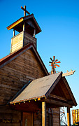 Ghost Town Prints - Church on the Mount - Goldfield Ghost Town Print by Jephyr Art