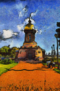 Saint Mixed Media - Church Petersburg by Ferran Badia