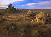 Image Of Native American Posters - Church Rock Eroded Volcanic Plug Poster by Tim Fitzharris