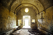 Entrance Door Posters - Church Ruin Poster by Carlos Caetano