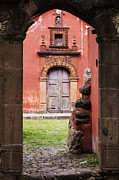 San Miguel De Allende Framed Prints - Church Through Archway Framed Print by Jeremy Woodhouse