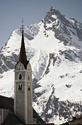 Snow Scenes Prints - Church Tower And Ballunspitz Peak Seen Print by Gordon Wiltsie