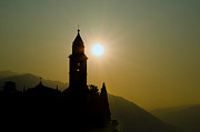 Morning Backlight Prints - Church tower Print by Mats Silvan