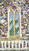 Glass Wall Drawings - Church Window by Anna Shipstone