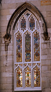 Glass Greeting Cards Prints Prints - Church window Print by Eva Ason
