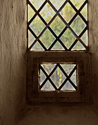 Old Window Posters - Church Window Interior Poster by Odd Jeppesen