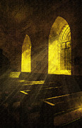 Gold Bars Posters - Church Window Light Poster by Svetlana Sewell